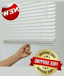 1-in Cordless White Vinyl Light Filtering Mini Blinds multip