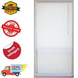 1 in. Vinyl Mini Blind Cordless Window Blinds Shade Washable