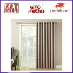 1x Blackout Window Curtains Thermal Insulated Draperies Vert