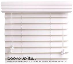 "CBC 2"" Faux Wood Blinds White Custom Width 10""-96"" x Height"