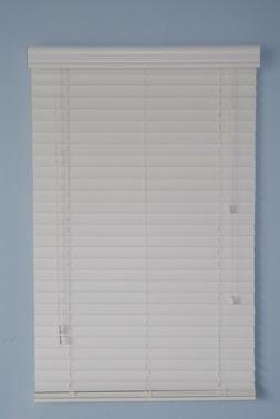 "2"" Faux Wood window  Blinds 43W x 64L White Plantation style"