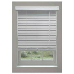 Linen Avenue 2 in White Cordless Faux Wood Blinds 32 W x 68