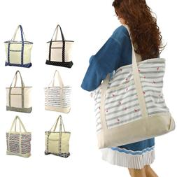 "DALIX 22"" Shopping Tote Bag in Heavy Cotton Canvas"