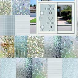 3D Static Cling Cover Frosted Window Glass Film Paper Sticke