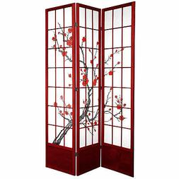 Oriental Furniture 7 ft. Tall Cherry Blossom Shoji Screen