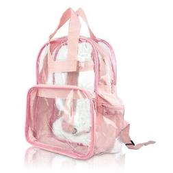 DALIX Clear Backpack School Bag See Through in Light Pink Fr