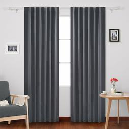 Deconovo Back Tab and Rod Pocket Curtains Blackout Shades Ro