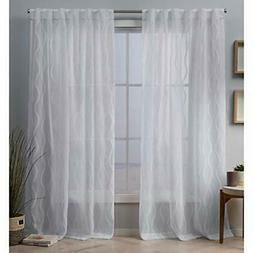 Exclusive Home Curtains Belfast Panel Pair, 54x84, White