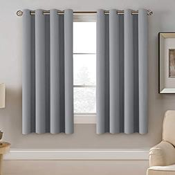 H.VERSAILTEX Blackout Grey Curtains 63 Inch Length Grey Ther