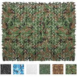 iunio Camouflage Netting Camo Net Blinds for Sunshade Campin