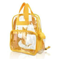 DALIX CLEAR BACKPACK TRANSPARENT PVC SCHOOL SECURITY GOLD FR