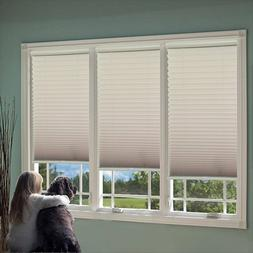 Cordless Light Filter Pleated Shade,  Camel,  28.5W x 72L