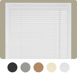 "Cordless Window Blinds Mini Blinds 1"" Black White Alabaster"
