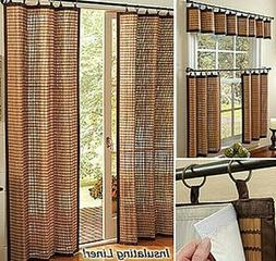 Curtain Blind Shade Bamboo Window Panels Cotton Trims Eco Fr