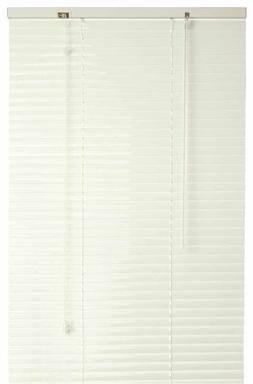 Designer's Touch 833601 1-Inch Vinyl Mini Blinds, Alabaster,