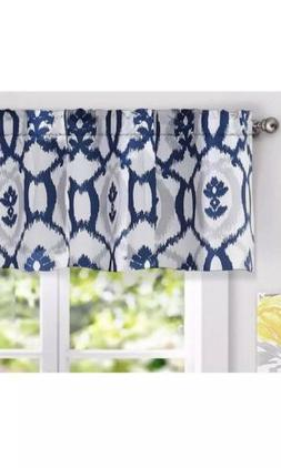 "DriftAway Evelyn Floral Pattern Window Curtain Valance, 52""x"