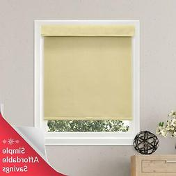 Chicology Free-Stop Cordless Roller Shades, No Tug Privacy W