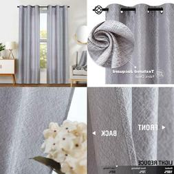 Jinchan Grey Window Curtains For Bedroom Curtain Grommets To
