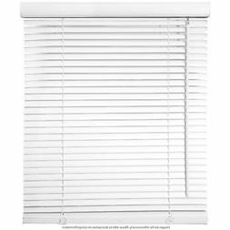 "Window Blinds - 23"" Wide White Horizontal Venetian Blinds 64"