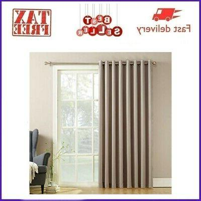1x blackout window curtains thermal insulated draperies
