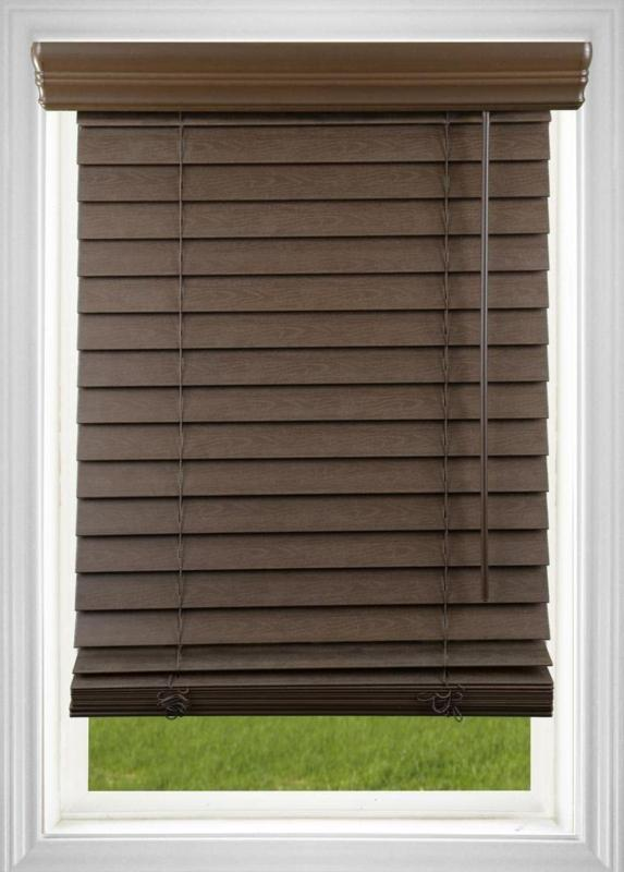 Dez In. Cordless Faux Blind, 68W X Inches,