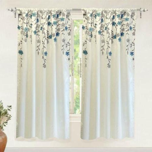 isabella faux silk embroidered window curtain embroidered
