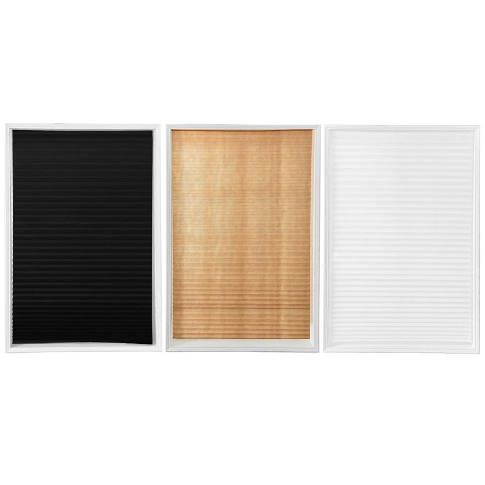 Self-Adhesive Pleated Bathroom Shades <font><b>For</b></font> Coffee/Office