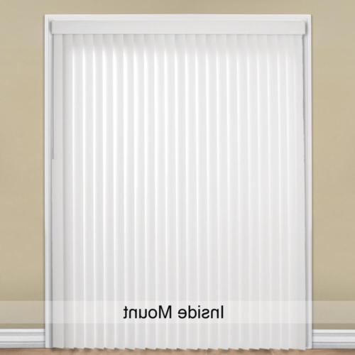 Vertical PVC White in. x 84 in. Light Filtering Wide
