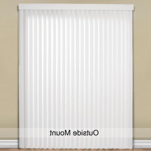 Vertical Blinds PVC White 78 W x in. L Light Filtering Wide