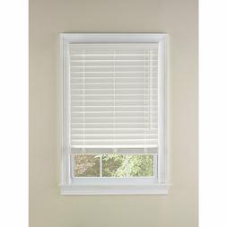 """NEW LEVOLOR 2"""" FAUX WOOD BLINDS, CORDED, WHITE & WALNUT, VAR"""