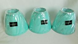 """New Urbanest Turquoise Cotton Chandelier Lamp Shades 3x6x5"""""""