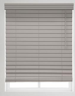 "Premium 2 1/2"" Cordless Faux Wood Blinds in Driftwood"