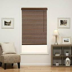DEZ Furnishings QJBK266480 Cordless 2-Inch Faux Wood Blind 2