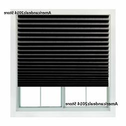 Redi Shade  Paper Window Blinds Black Out Pleated 36 x 72 in