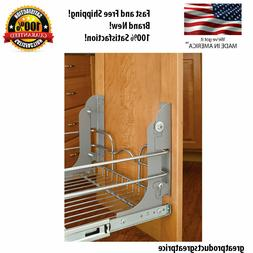 Rev A Shelf Pull Out Trash Can MOUNTING KIT Cabinet Door Was