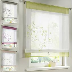 Roman Blinds Embroidery Tulle Short Shade Pastoral Room Wind