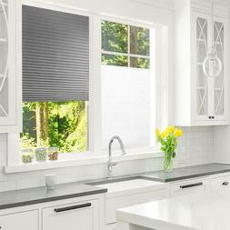 Self-Adhesive Pleated Blinds Home Kitchen Bathroom Half Blac