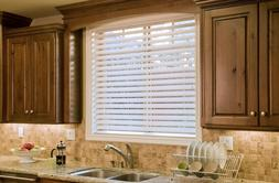 "Bravada Select, Superior 2 1/2"" Faux Blinds -Alabaster, 94"""