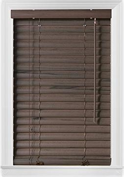 "Bali Blinds 2"" Vinyl Corded, 31x64"", Coffee Embossed"