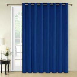 Wide Width Blackout Patio Door Curtain Room Divider Blinds S